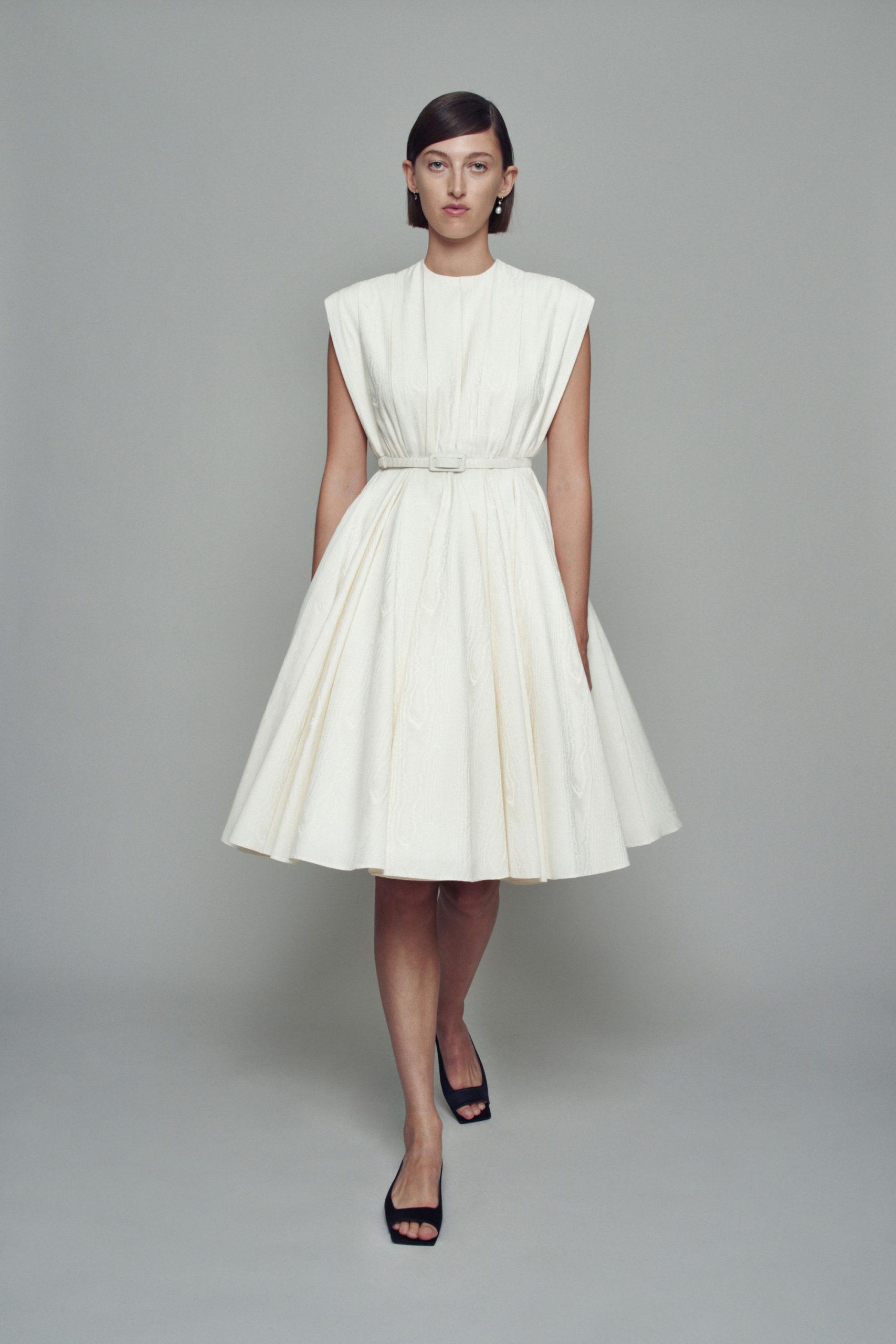 Платье с расклешённой статичной юбкой, платье выпускницы от Emilia Wickstead