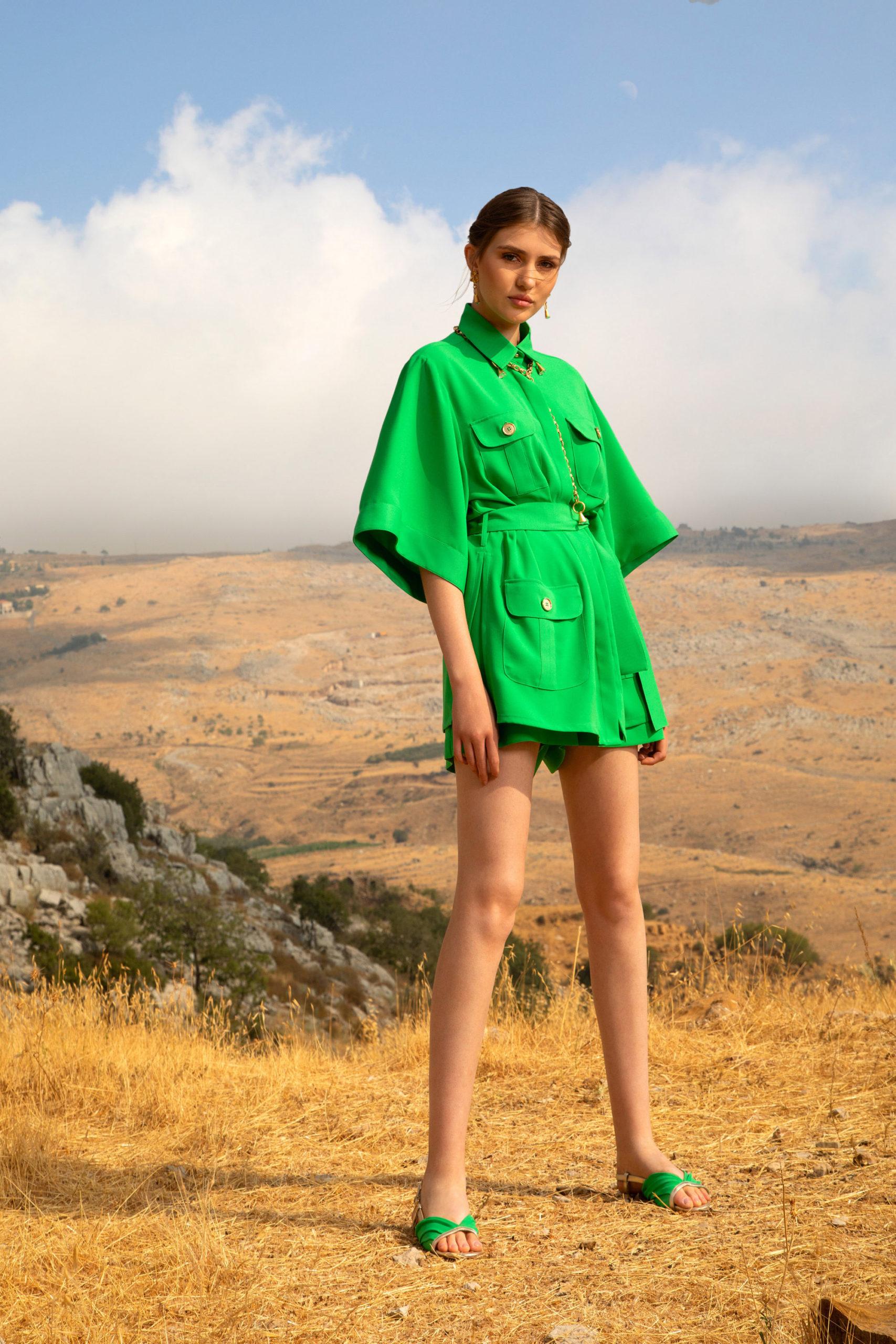 Платье с расклешёнными рукавами от Elie Saab