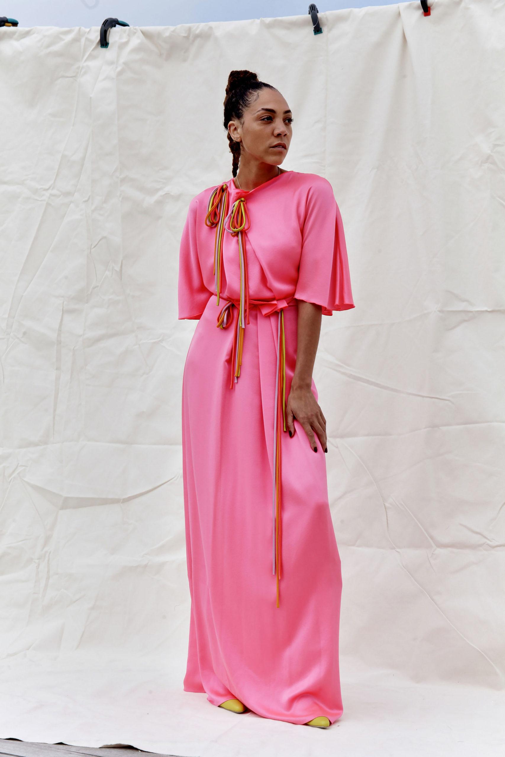 Платье с расклешёнными рукавами от Roksanda