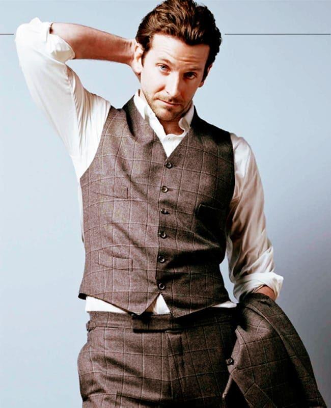 Bradley Cooper в клетчатом луке