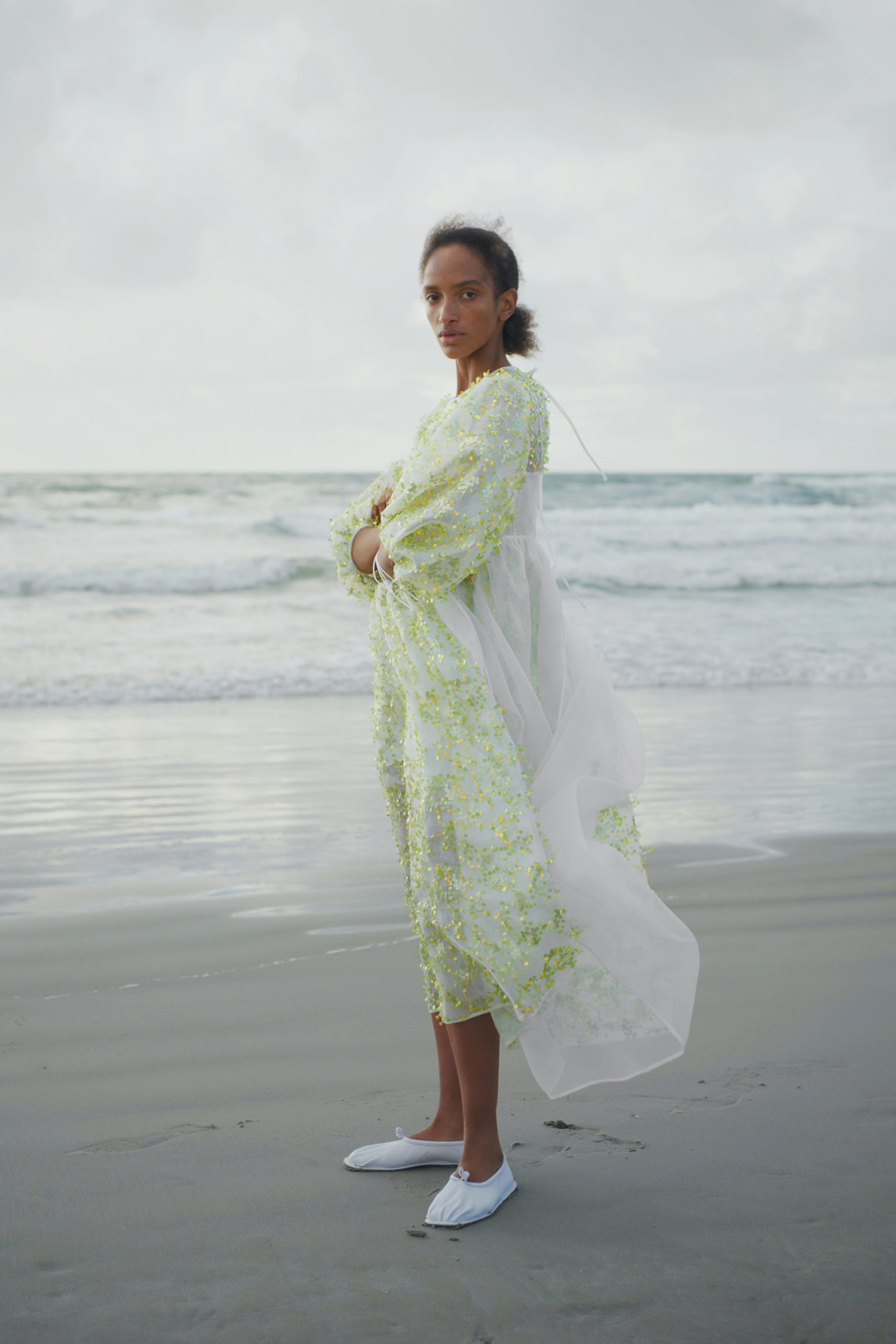 Ментоловый образ от Cecilie Bahnsen Ready To Wear весна-лето 2021
