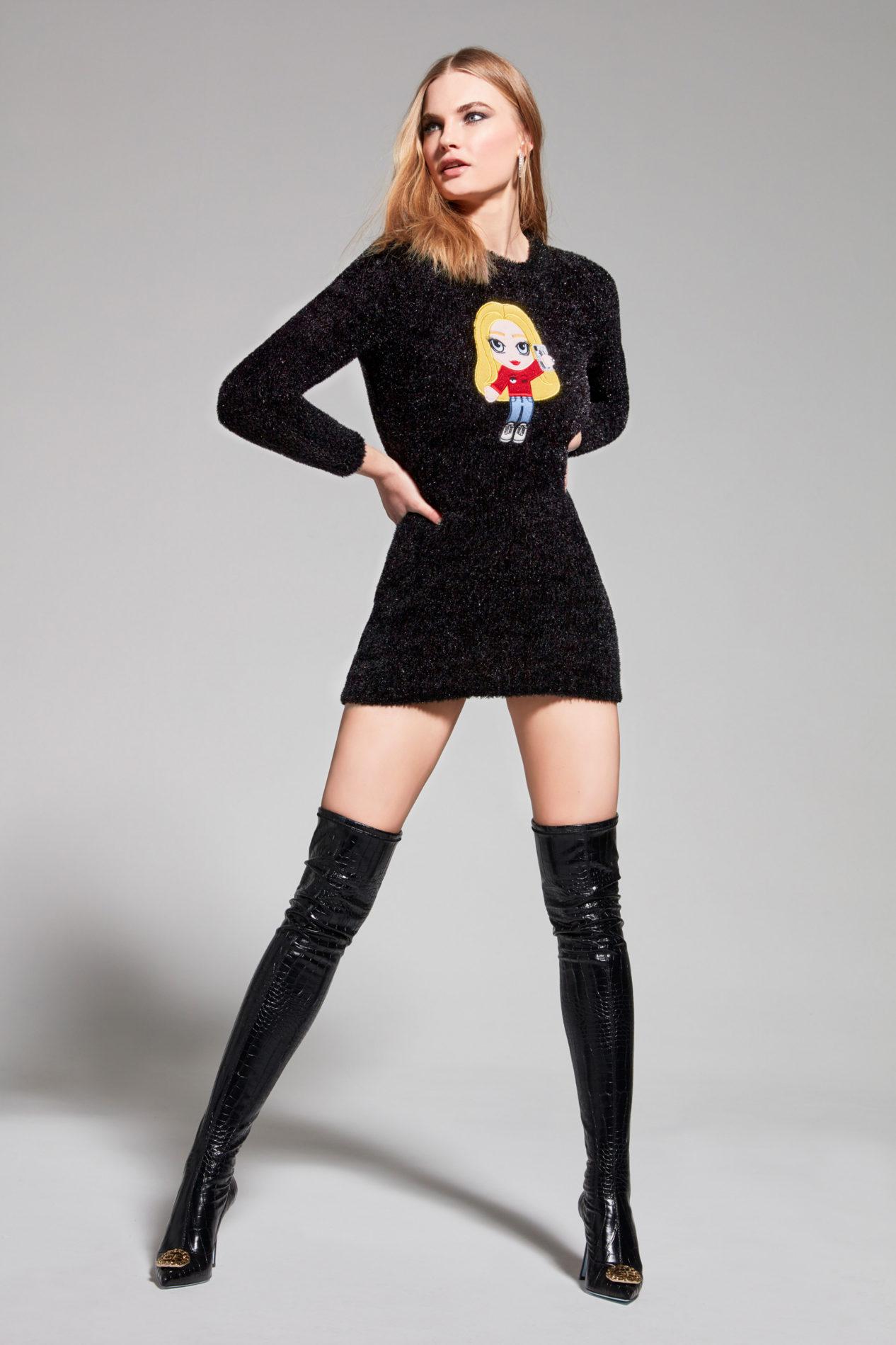 Узкое платье от Chiara Ferragni модель 2021 года