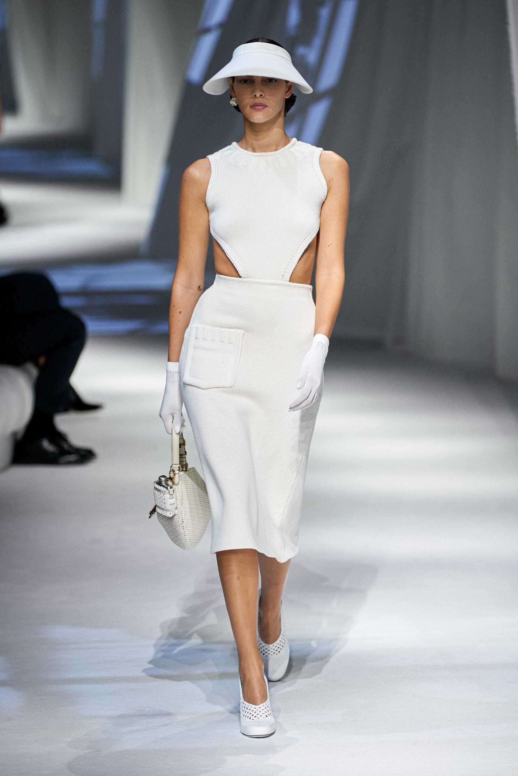 Платье с вырезом от Fendi