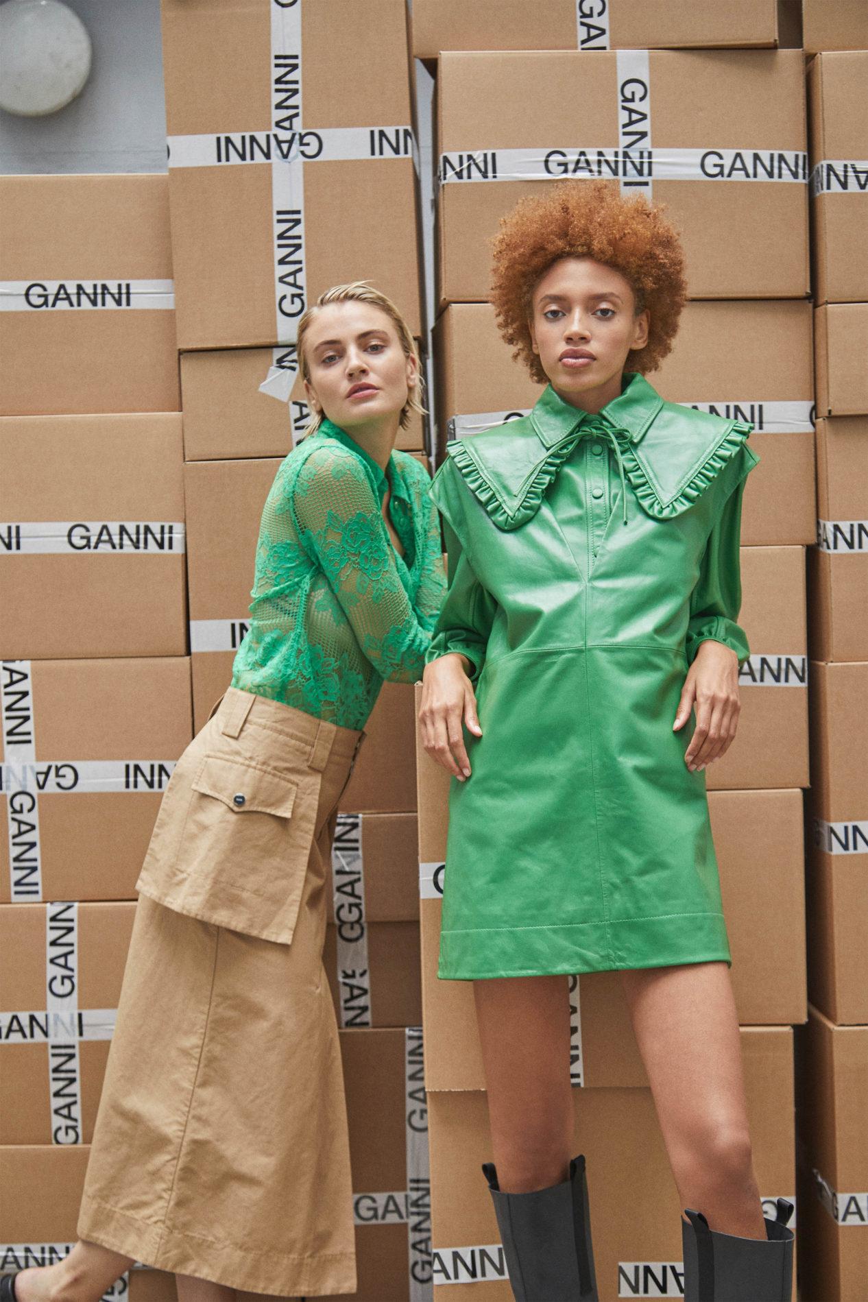 Ментоловый образ от Ganni Ready To Wear весна-лето 2021