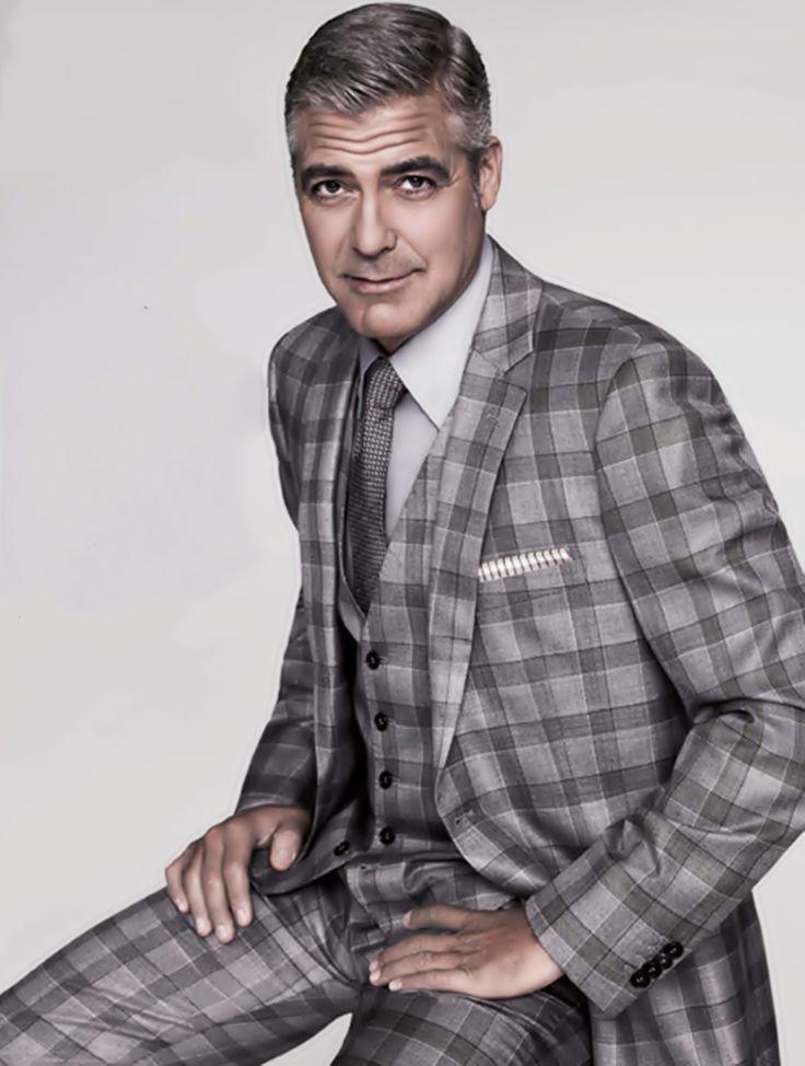 George Clooney в клетчатом луке