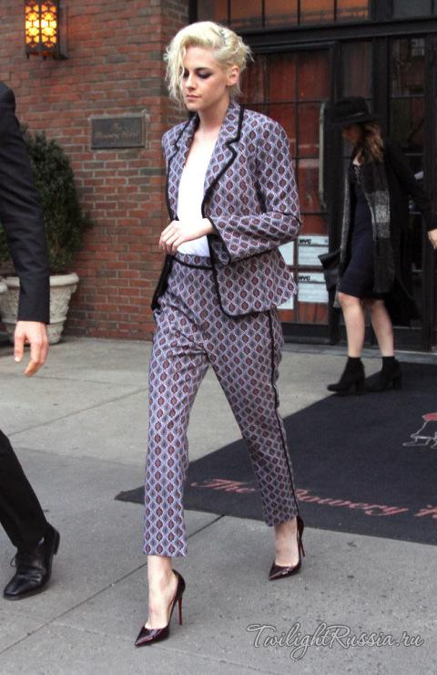 Kristen Stewart в клетчатом луке