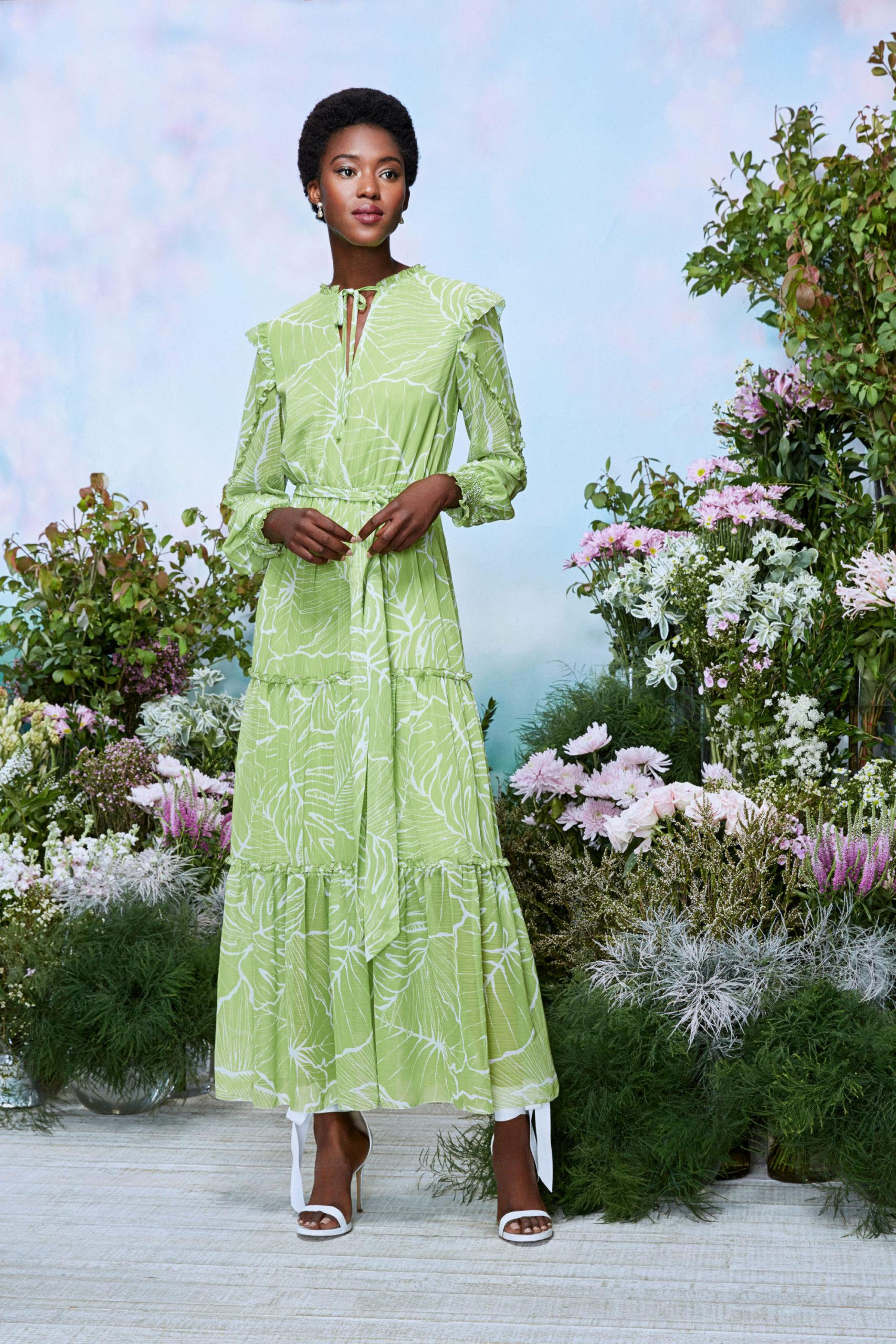 Ментоловый образ от Marchesa Notte Ready To Wear весна-лето 2021