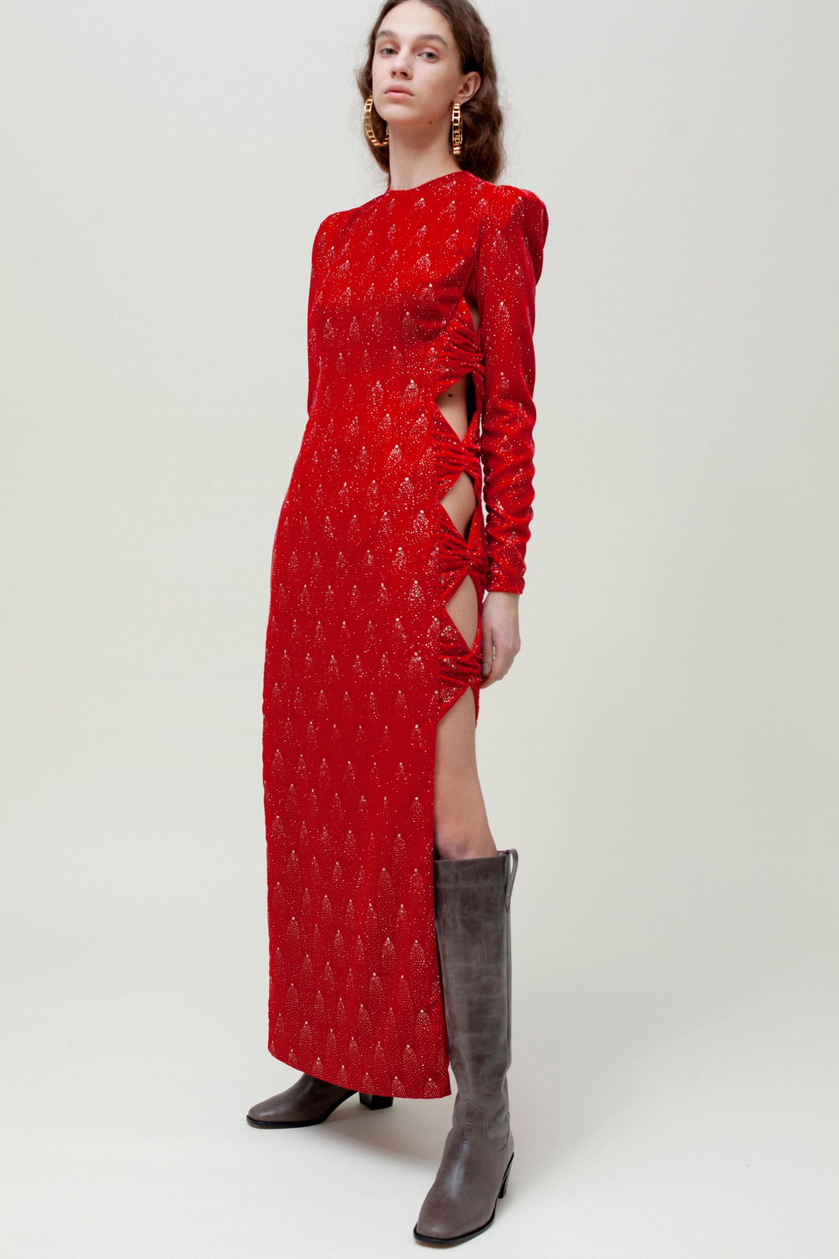 Платье с вырезом от Sandra Mansour модель 2021 года