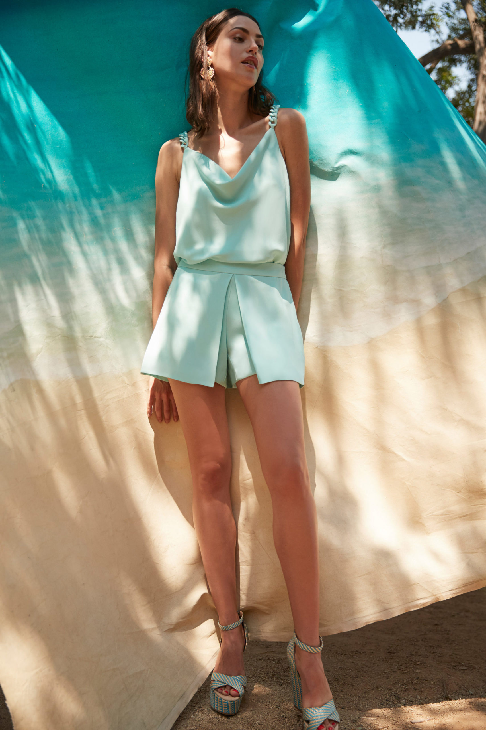 Ментоловый образ от Trina Turk Ready To Wear весна-лето 2021