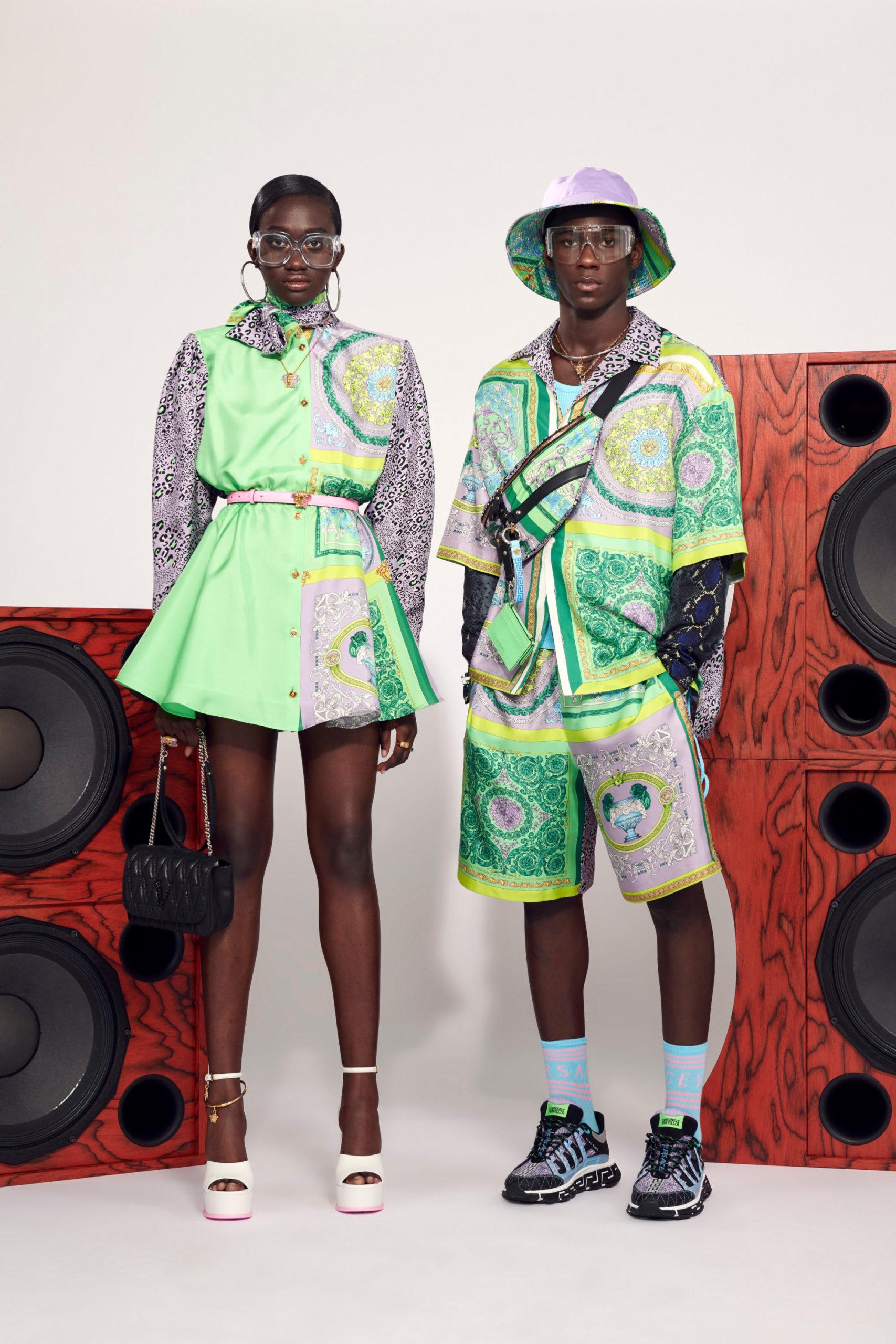 Ментоловый образ от Versace Resort весна-лето 2021