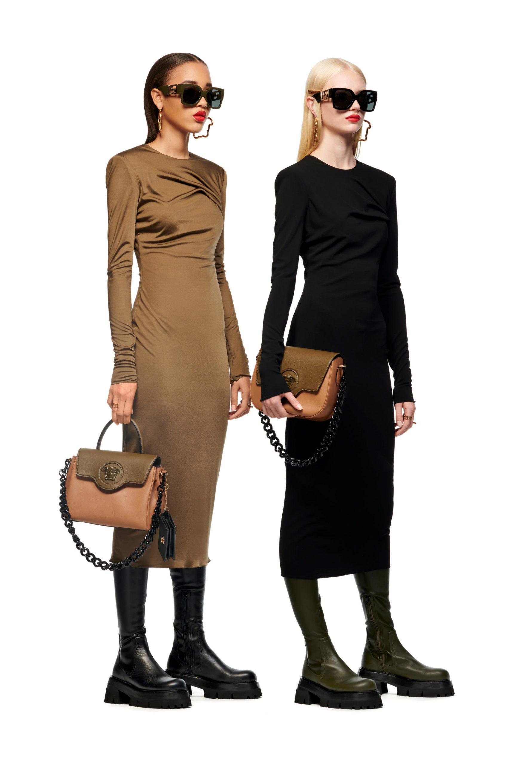 Узкое платье от Versace модели 2022 года