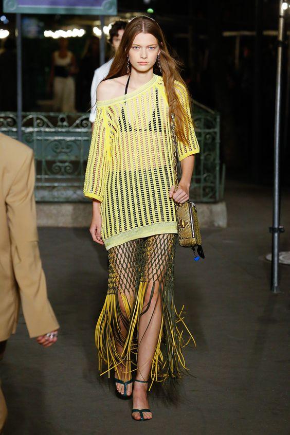 Одежда в сетку – мода 2010-2020 годов