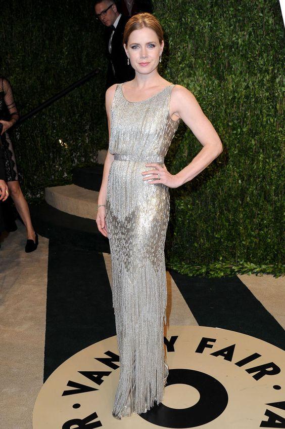 Эми Адамс (Amy Adams) в платье с бахромой от Oscar De La Renta