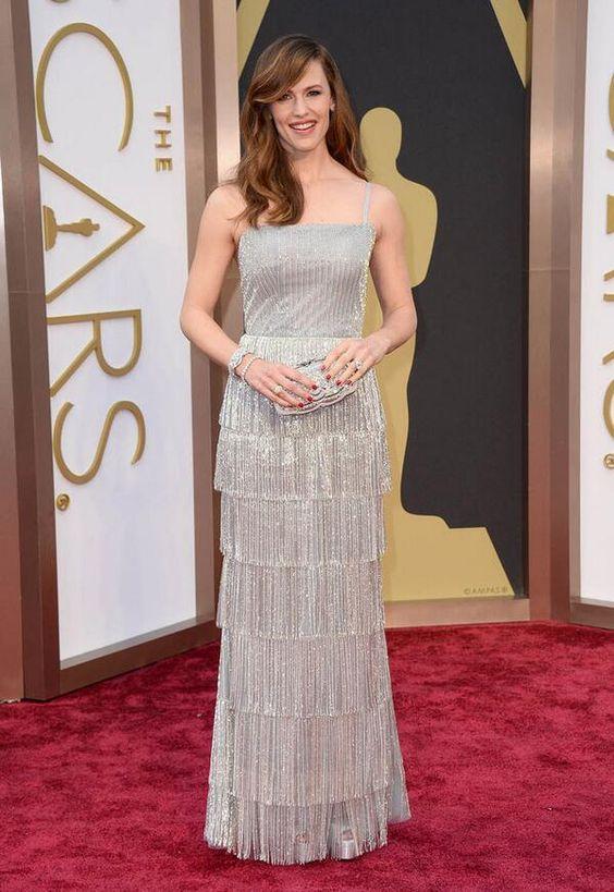Дженнифер Гарнер (Jennifer Garner) в платье с бахромой от Oscar de la Renta