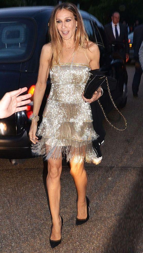 Сара Джессика Паркер (Sarah Jessica Parker) в платье с бахромой