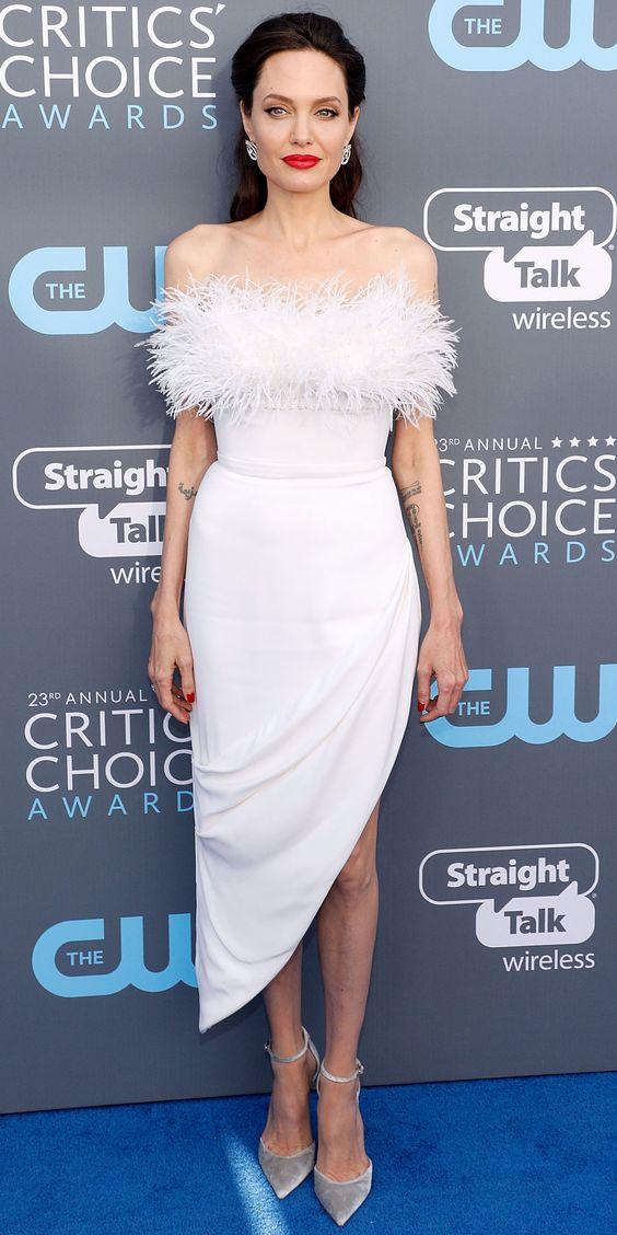Анджелина Джоли (Angelina Jolie) в платье с бахромой от Ralph & Russo