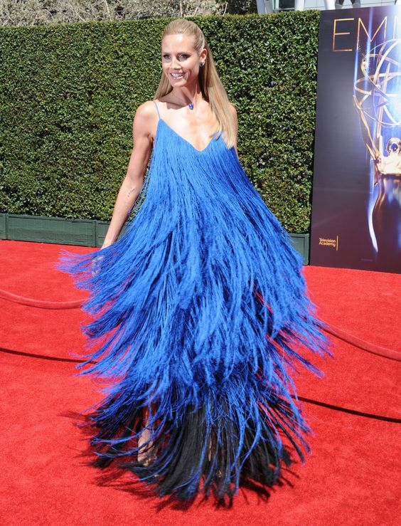 Хайди Клум (Heidi Klum) в платье с бахромой