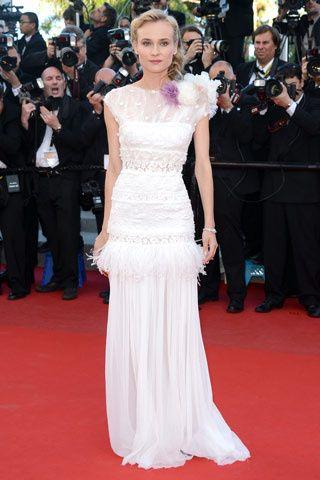 Дайан Крюгер (Diane Kruger) в платье с бахромой от Nina Ricci