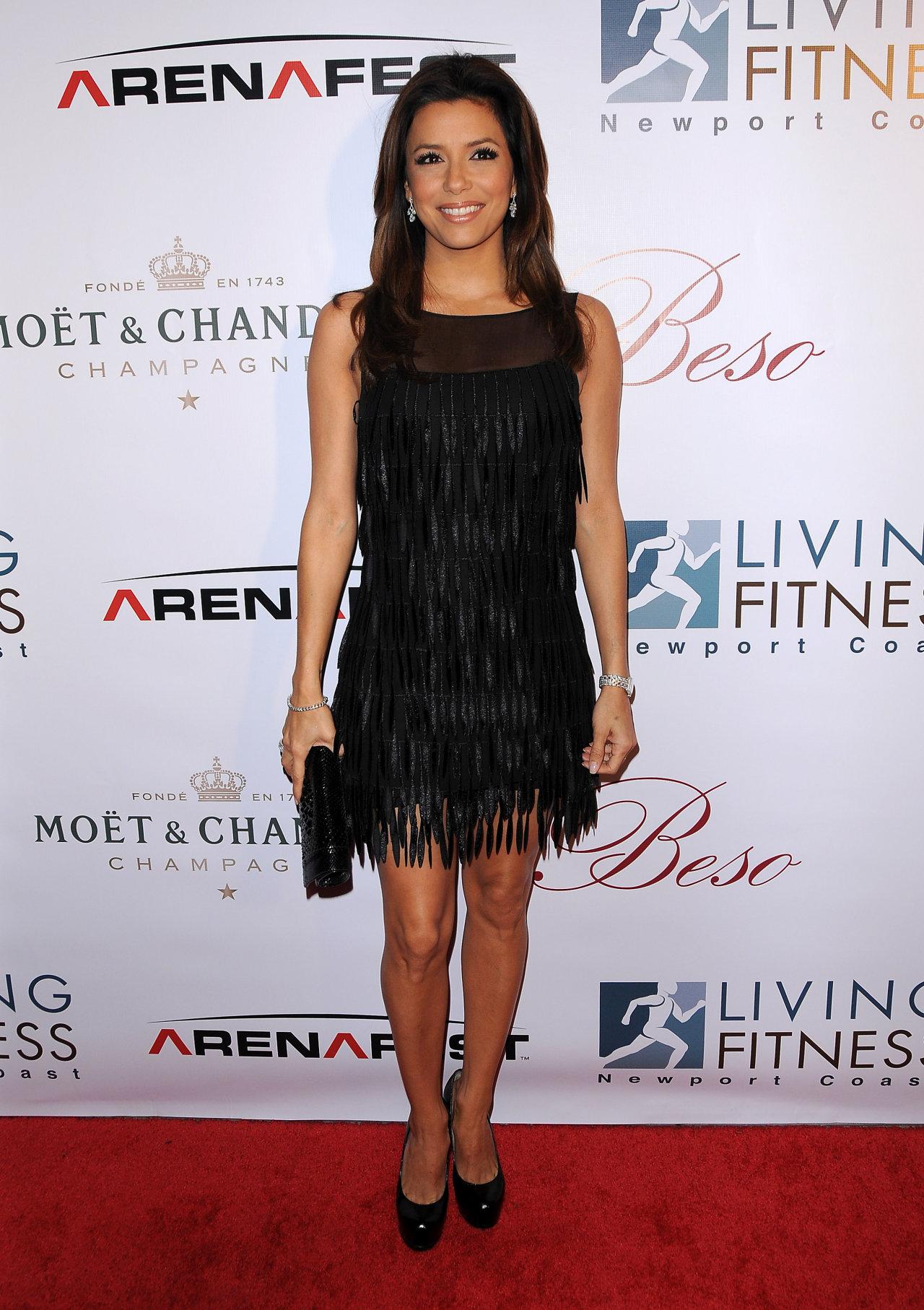 Ева Лонгория (Eva Longoria) в платье с бахромой