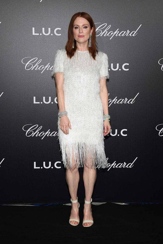 Джулианна Мур (Julianne Moore) в платье с бахромой
