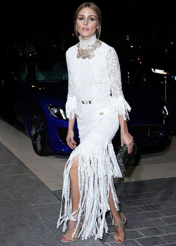 Оливия Палермо (Olivia Palermo) в платье с бахромой