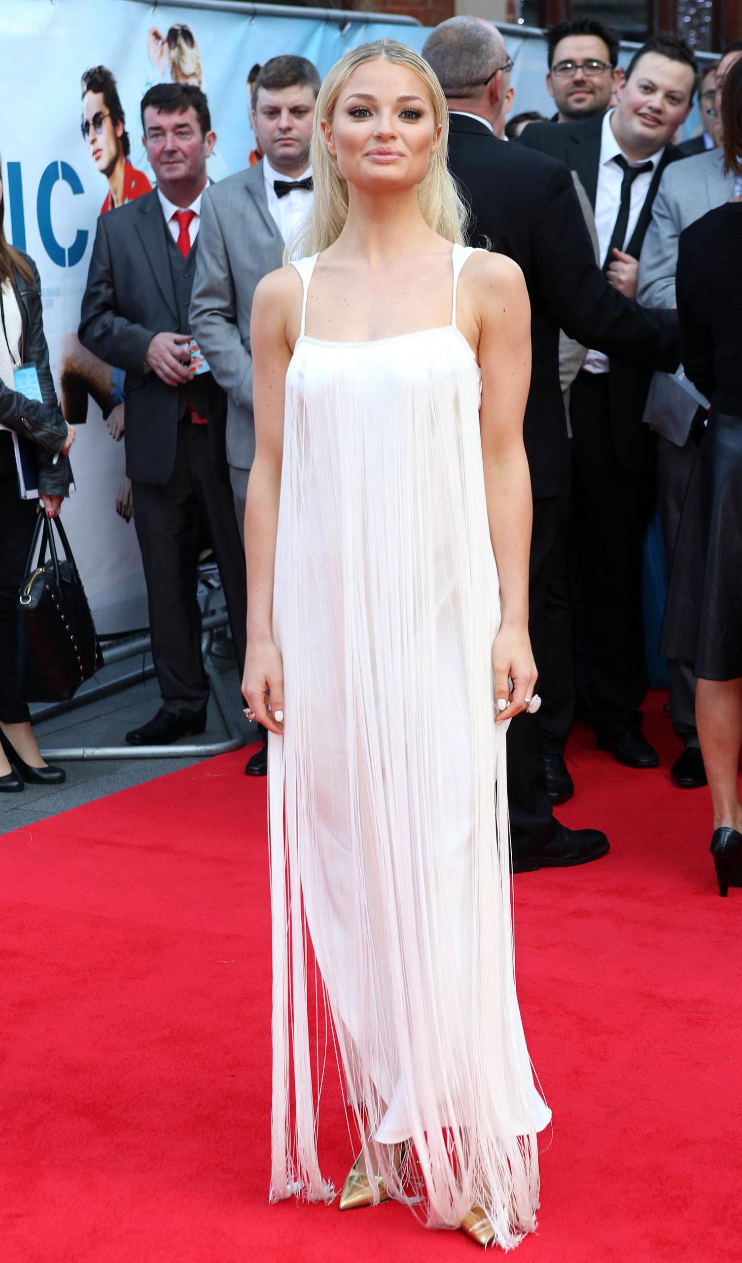Эмма Ригби (Emma Rigby) в платье с бахромой