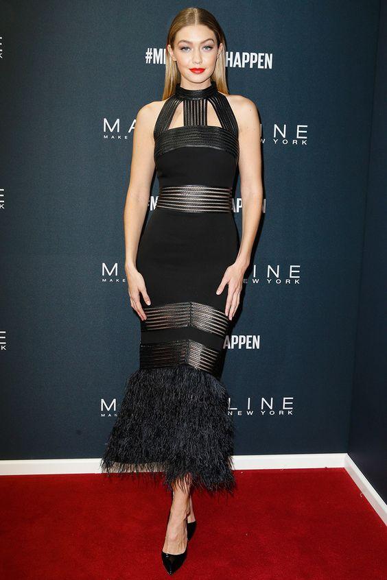 Джиджи Хадид (Gigi Hadid) в платье с бахромой
