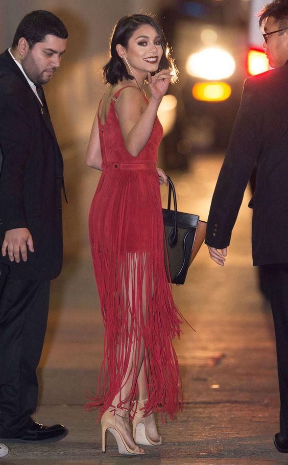 Ванесса Энн Хадженс (Vanessa Anne Hudgens) в платье с бахромой