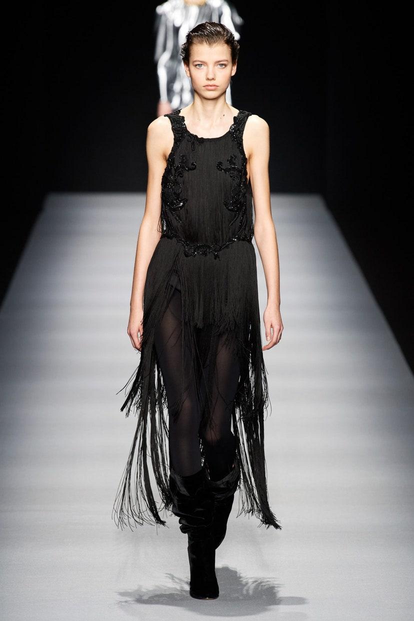 Платье с бахромой от Alberta Ferretti