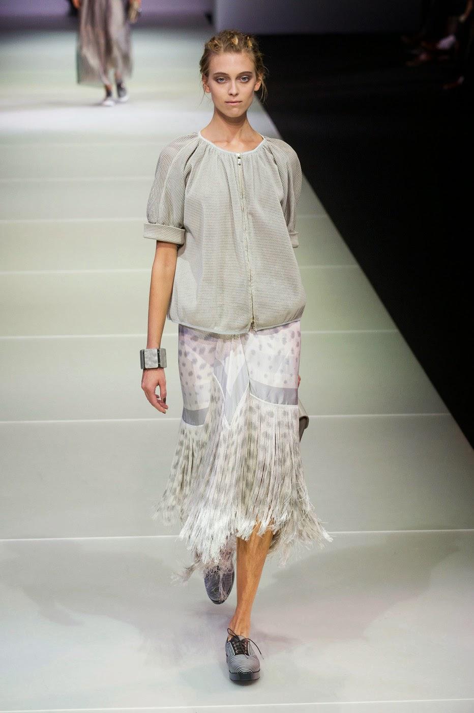 Юбка с бахромой от Giorgio Armani 2015
