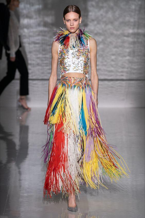 Юбка с бахромой от Givenchy 2019