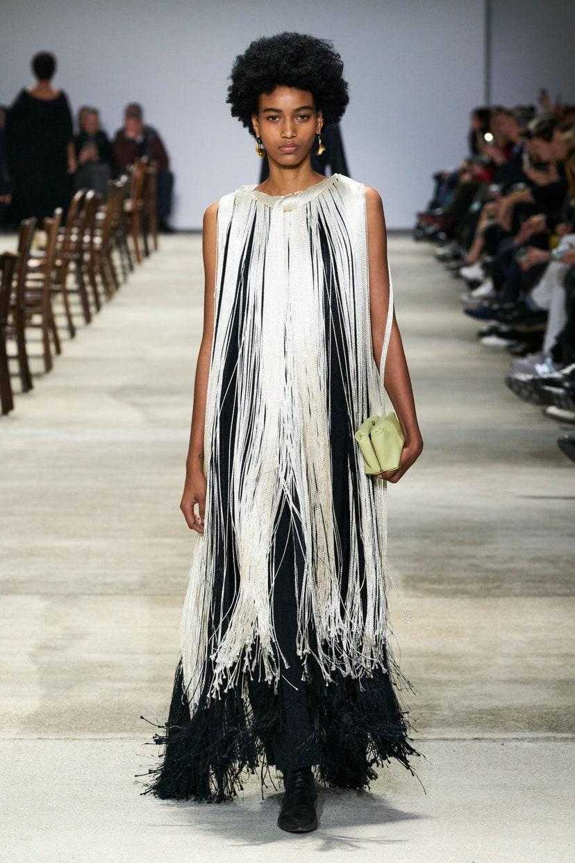 Платье с бахромой от Jil Sander