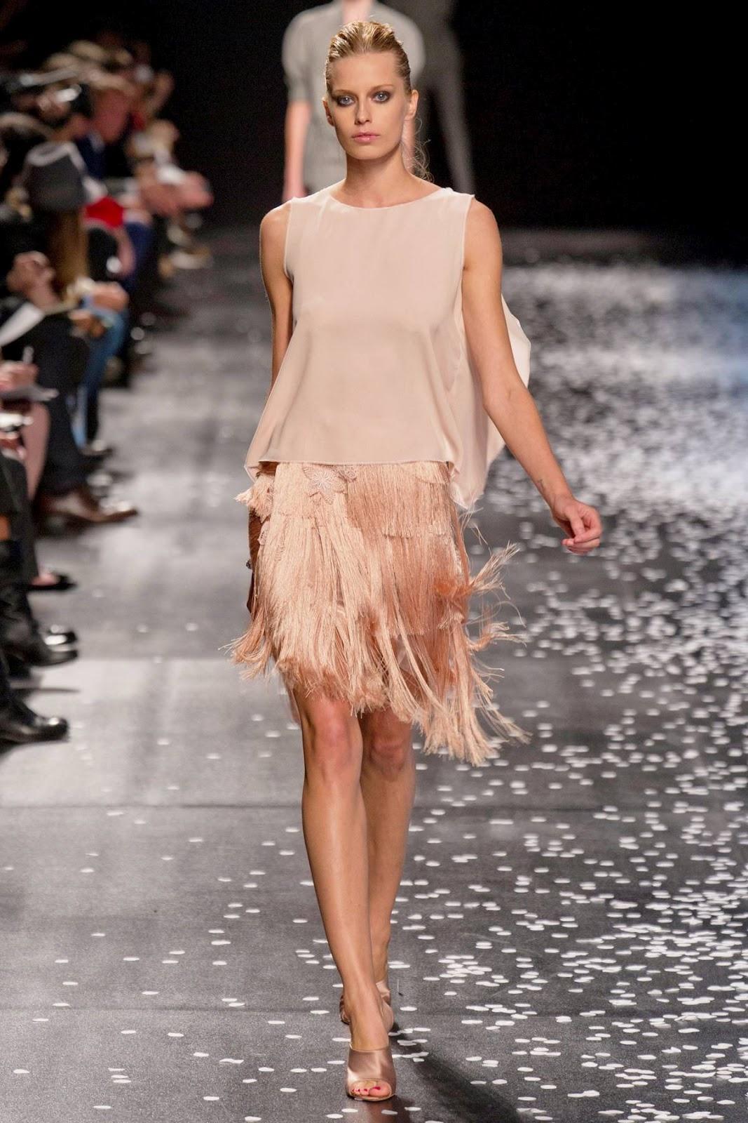 Юбка с бахромой от Nina Ricci 2013