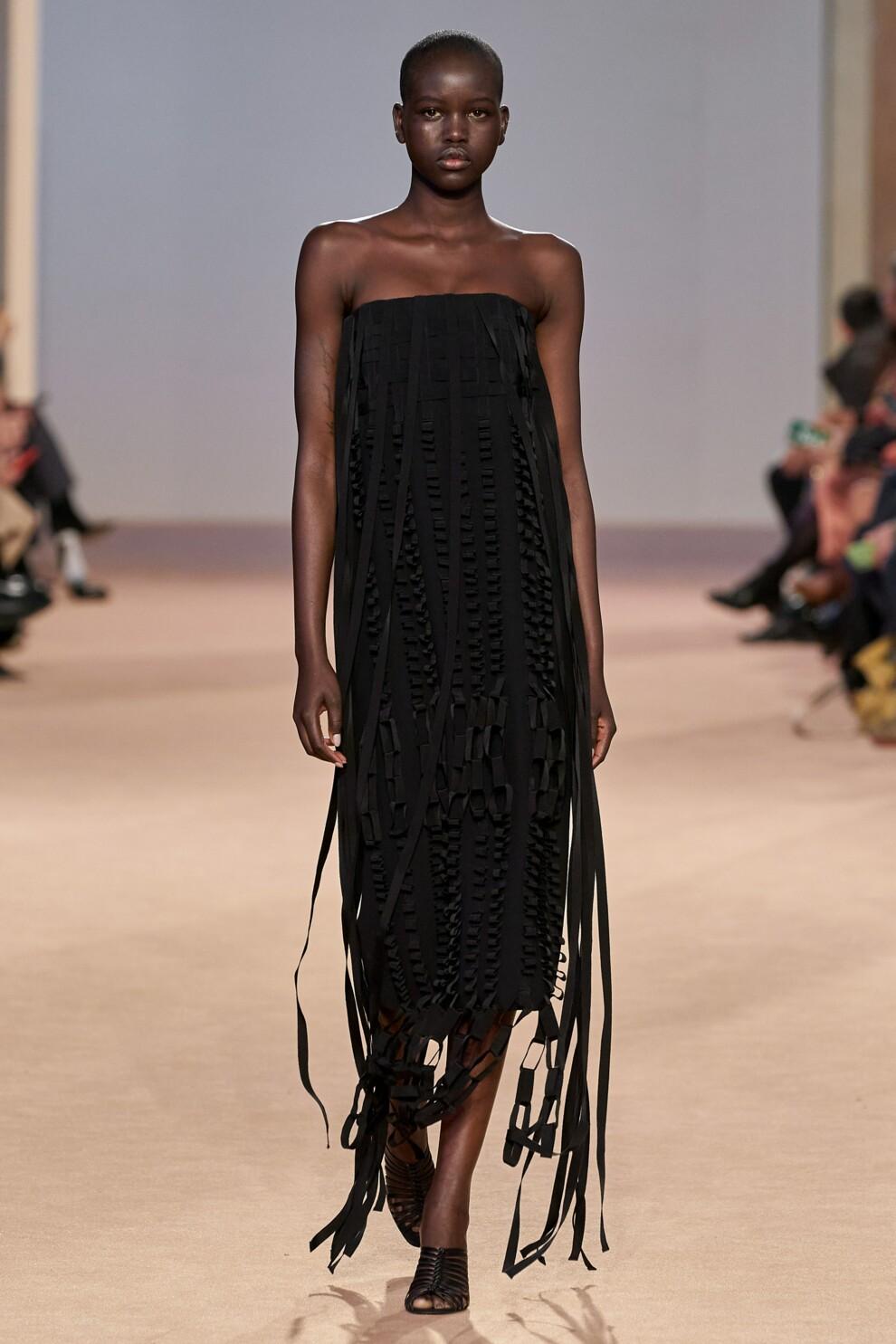 Платье с бахромой от Salvatore Ferragamo