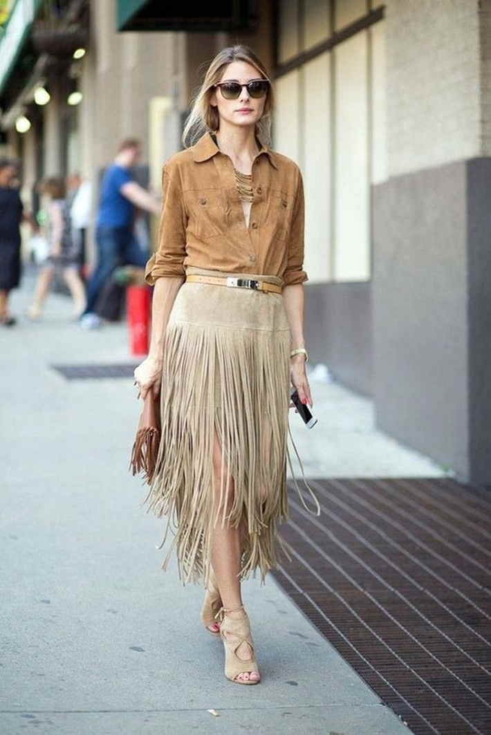 Street Style - юбка с бахромой