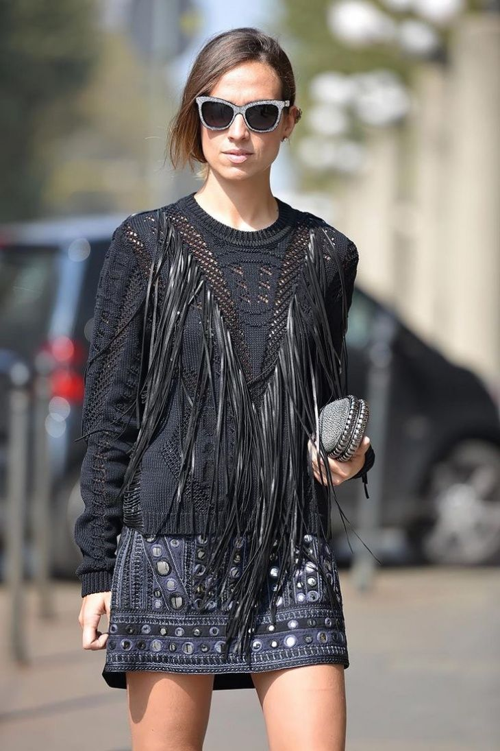 Street Style - свитер с бахромой