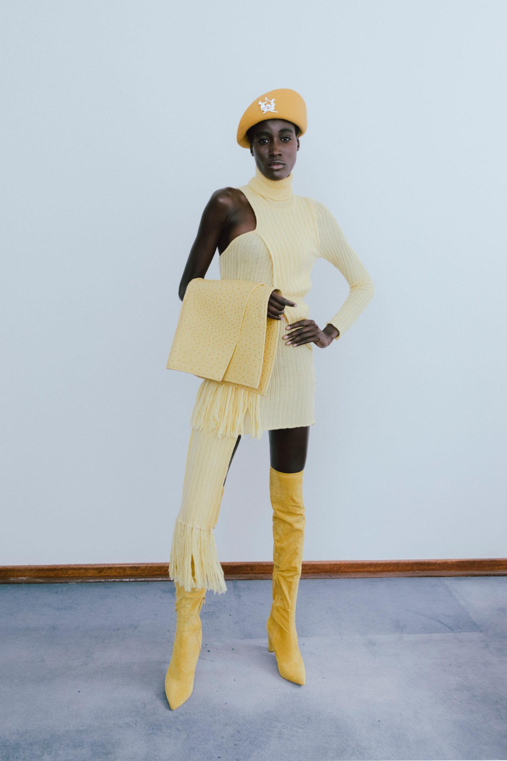 Вещи с бахромой из коллекций 2021-2022 годов от Thebe Magugu