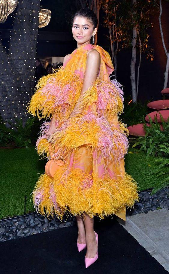 Zendaya (Зендая) в платье с бахромой от Marc Jacobs