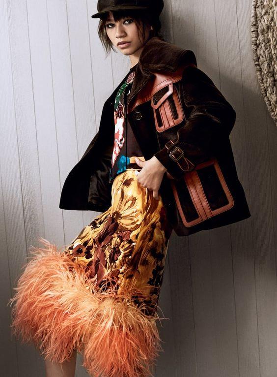 Zendaya (Зендая) в платье с бахромой